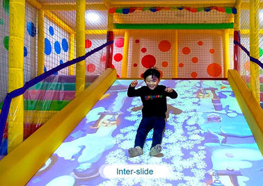Çin Interactive floor game projector interactive projection wall children game machine Fabrika